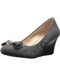 Cole Haan - Gray Tali Grand Bow Wedge 65 - Lyst