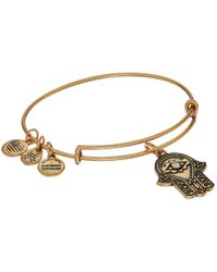ALEX AND ANI | Metallic Path Of Symbols-hand Of Fatima Iii Bangle | Lyst