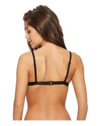 Roxy - Black Surf Memory Fixed Triangle Bikini Top - Lyst