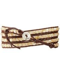 Chan Luu - Brown Semi Precious Stone Bracelet - Lyst