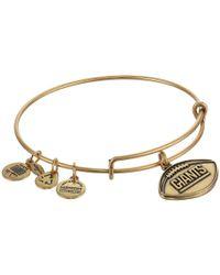 ALEX AND ANI - Metallic New York Giants Football Charm Bangle (rafaelian Gold Finish) Bracelet - Lyst
