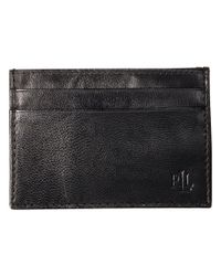 Lauren by Ralph Lauren - Burnished Card Case W/ Money Clip (black) Wallet Handbags - Lyst