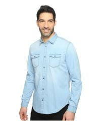 Calvin Klein Jeans - Blue Denim Shirt for Men - Lyst