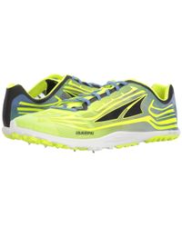 Altra Yellow Golden Spike (lime/blue) Athletic Shoes for men