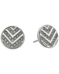 Fossil - Metallic Chevron Glitz Studs Earrings - Lyst
