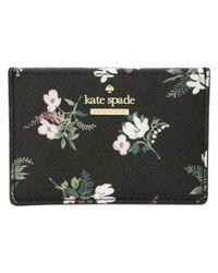 Kate Spade - Black Cameron Street Flora Card Holder - Lyst