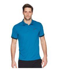 Nike - Blue Court Dry Tennis Polo for Men - Lyst