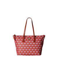 Dooney & Bourke - Multicolor Nfl Zip Top Shopper - Lyst