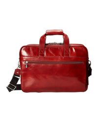 Bosca - Brown Double Compartment Leather Briefcase for Men - Lyst