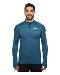 Nike - Blue Dry Element 1/2 Zip Running Top for Men - Lyst