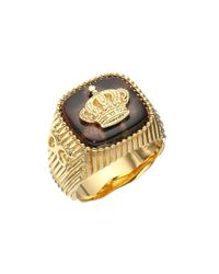 Dolce & Gabbana - Metallic Leopard Ring for Men - Lyst