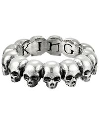 King Baby Studio - Metallic Skull Infinity Ring - Lyst