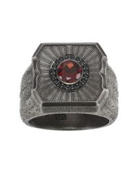 Stephen Webster - Black Large Cigar Leaf Ring for Men - Lyst