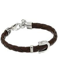 Ferragamo | Black Gancini Hook Closure Bracelet | Lyst