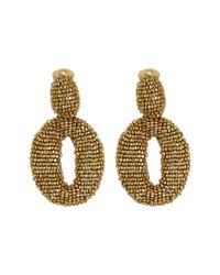 Oscar de la Renta | Metallic Classic Oscar O C Earrings | Lyst