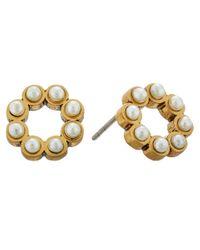 Marc Jacobs - White Pearl Dot Studs Earrings - Lyst