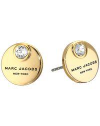 Marc Jacobs - Metallic Mj Coin Studs Earrings - Lyst