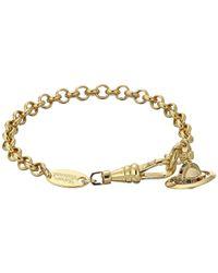 Vivienne Westwood - Metallic New Petite Orb Pendant Bracelet - Lyst