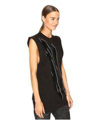 DSquared² - Black Renny Glam Rock Sleeveless Jersey Dress - Lyst