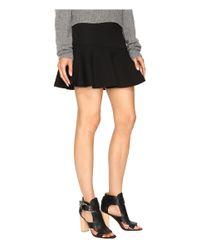 McQ - Black Peplum Mini Skirt - Lyst