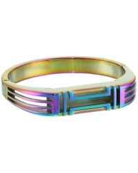 Tory Burch - Multicolor Fitbit Metal Hinged Bracelet - Lyst