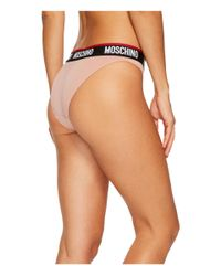 Moschino - Pink Microfiber Banding Brief - Lyst