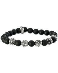 King Baby Studio - Black 8mm Onyx Bead Bracelet With 5 Stingray Beads - Lyst