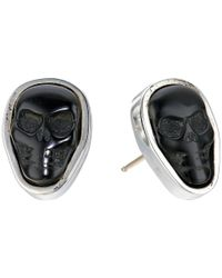 King Baby Studio | Multicolor Obsidian Skull Stud Earrings | Lyst