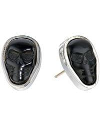 King Baby Studio - Multicolor Obsidian Skull Stud Earrings - Lyst