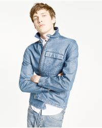 Zara | Blue Denim Overshirt for Men | Lyst