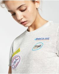Zara | Metallic Patch T-shirt | Lyst