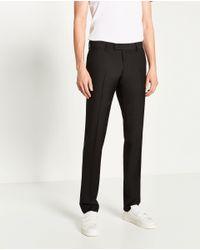 Zara | Black Plain Suit Trousers for Men | Lyst