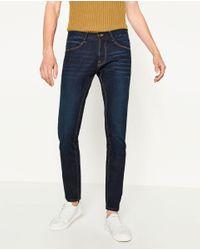 Zara | Blue Slim Fit Jeans for Men | Lyst