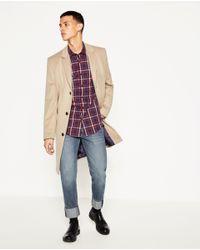 Zara | Blue Melange Shirt for Men | Lyst