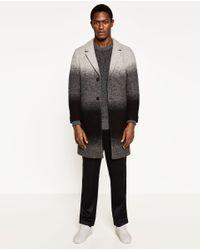 Zara | Gray Oversized Sweater for Men | Lyst