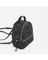 Zara | Black Convertible Backpack | Lyst