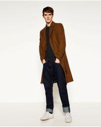 Zara   Blue Textured Weave Sweater for Men   Lyst