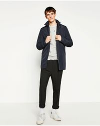 Zara | Blue Detachable Technical Parka for Men | Lyst