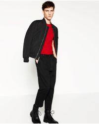 Zara | Red Basic Super Slim T-shirt for Men | Lyst
