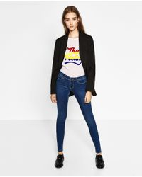 Zara | Blue Low-rise Body Curve Jeggings | Lyst
