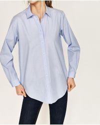 Zara | Blue Oversized Shirt | Lyst