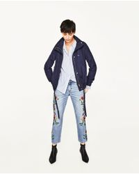 Zara | Blue Short Water Repellent Jacket | Lyst