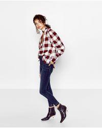Zara | Blue High-rise Jeans | Lyst