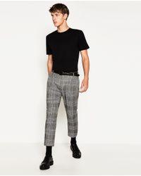Zara | Black Relaxed Fit T-shirt for Men | Lyst