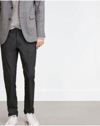 Zara | Black Straight Cut Trousers for Men | Lyst