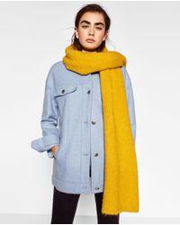 Zara | Yellow Soft Knit Scarf | Lyst