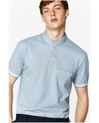 Zara | Blue Mandarin Polo Shirt for Men | Lyst