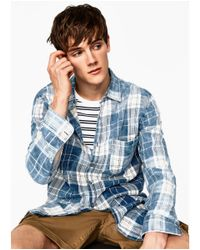 Zara | Blue Snow Shirt for Men | Lyst