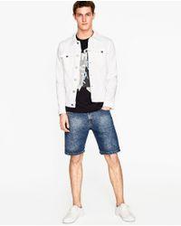 Zara | Blue Printed T-shirt for Men | Lyst