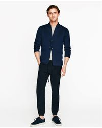 Zara | Blue Comfort Blazer for Men | Lyst